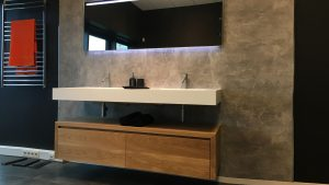 Sts projectseiken meubel met solid surface wastafel sts projects